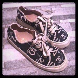 Authentic Chanel canvas sneakers size 6